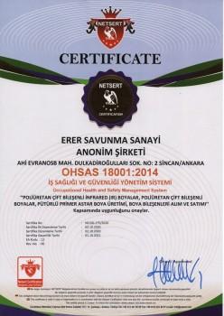 OHSAS 18001:2014 İş Sağlığı ve Güvenliği Yönetim Sistemi